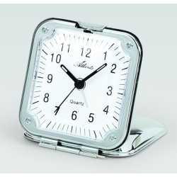 Réveil de voyage Quartz cadre métallique 6.5x6.5cm