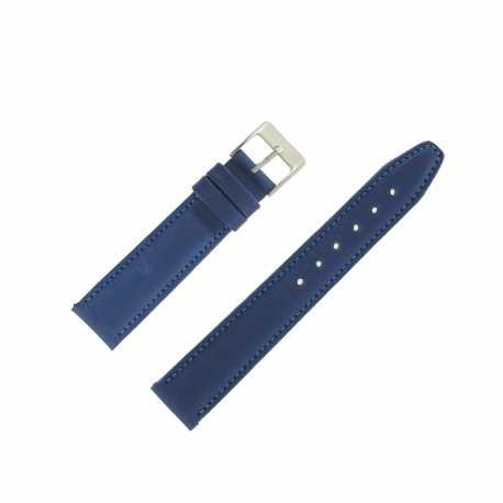 Bracelet montre Bleu Marine Largeurs de 14 et 18mm en cuir de veau Valencia EcoCuir®