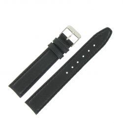 Bracelet montre Noir Largeurs de 12 à 22mm en cuir de veau Valencia EcoCuir®