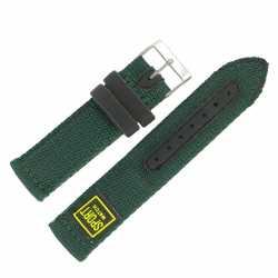 Bracelet de montre Vert largeurs de 18 et 20mm Sport Watch