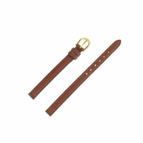 Bracelet montre Extra long Marron 08mm en cuir de vachette Classic