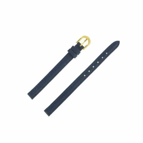 Bracelet montre Extra long 08mm Bleu en cuir de vachette Classic