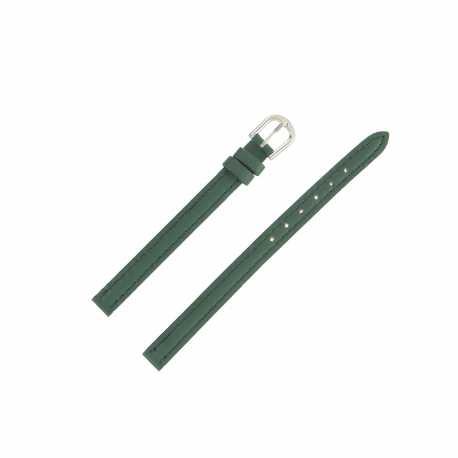 Bracelet montre Extra long 08mm Vert en cuir de vachette Classic