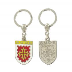 Porte clé Blason du département de l'Aveyron 12 Made In France