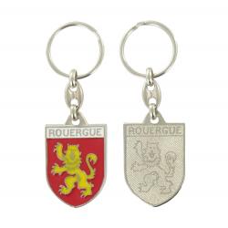 Porte clé Blason à l'éffigue du Rouergue Made In France