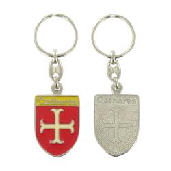 Porte clé Blason Croix des Cathares symbole de l'Occitanie Made In France