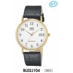 Montre Homme Analogique Quartz Alloy Doré 3 ATM Q&Q By Citizen BL02J104