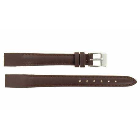Bracelet pour montre à anses soudées en Cuir Marron de Vachette 8-10-12-14-16-18-20MM