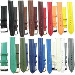 Cuir Box Bracelet de montre en cuir luxe : ensemble des couleurs