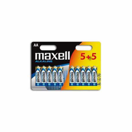 10 piles LR6 AA Migon Alcalines 1.5 Volts Maxell