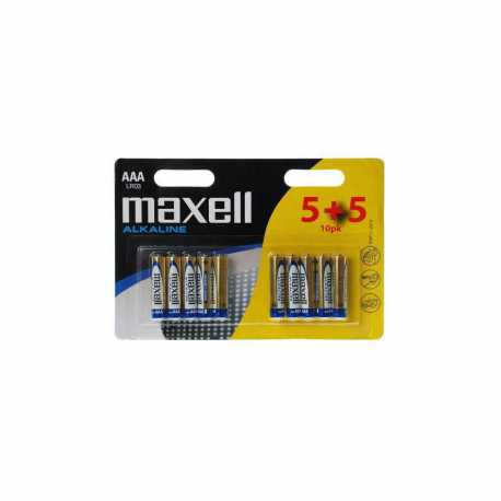 10 piles LR03 AAA Micro Alcalines 1.5 Volts Maxell