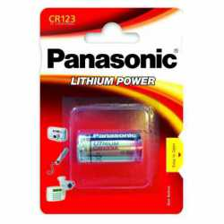 Pile photo CR123A Lithium 3 Volts 1550 mAh Panasonic
