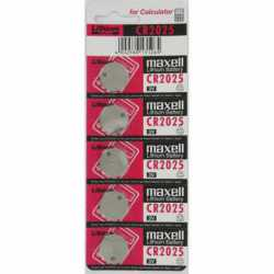 Pack de 5 piles bouton CR2025 Lithium 3 Volts 170 mAh Maxell