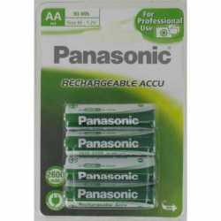 4 Accus HR6 AA NiMH Rechargeables 1.2 Volts 2600 mAh Panasonic