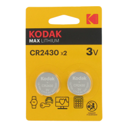 Blister de 2 Piles bouton CR2430 Lithium Max 3 Volts Kodak