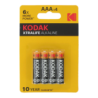 4 Piles LR3 AAA Micro Alcaline Xtralife 1.5 Volts Kodak