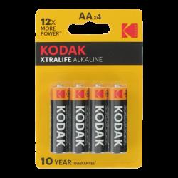4 Piles LR6 AA Migon Alcaline Xtralife 1.5 Volts Kodak
