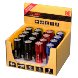 """16 Lampes de poche """"9 LED"""" 46 Lumens 25 mŠtres IP62 Kodak"""
