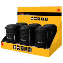 6 Lanternes de camping LED 400 Lumens IP64 Kodak