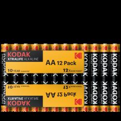 12 Piles LR06 AA Mignon Alcaline Xtralife 1.5 Volts Kodak®