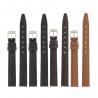 Lot de 4 bracelets montre assortis en Cuir Lisse Valencia EcoCuir® + 6 piles Offertes