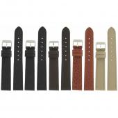 Lot de 5 bracelets montre 18mm assortis en cuir Buffalo Granada Ecocuir® + 6 Piles Offertes