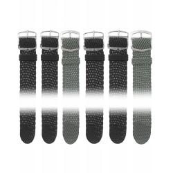 Lot de 10 Bracelets Perlon assortis + 2 XL de 18 et 20 mm + 12 Piles Offertes
