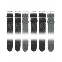 Lot de 12 Bracelets de montre en Perlon de 20mm + 6 Piles Offertes