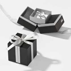 Écrin en carton Alliances à languette 65x65x25mm Loft 0920015